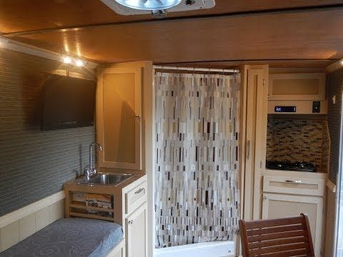 Cargo Trailer Camper Conversion - YouTube. This is the best conversion I have ever seen. I LOVE it!