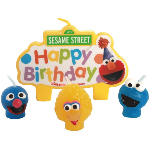 Sesame Street Birthday Molded Cake Candles 4 Zoes 2nd