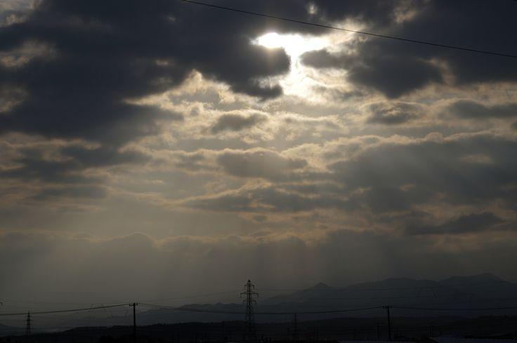 朝の景色 八郎潟から 2015-02-07 Hachirogata
