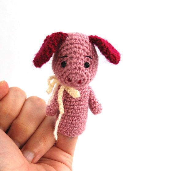 $21.36 #PIG #finger #puppet, #soft #educational #toy, #stuffed #pet #puppet, #cute #pig on #finger, #amigurumi #pig #pet, #pink #pig #toy #for #children, #pig #figurine