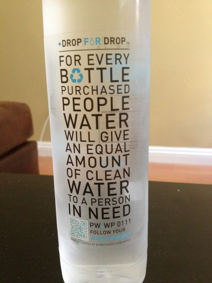 Because everyone deserves clean water! <3