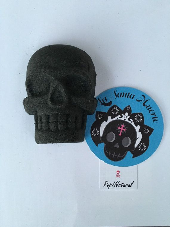 La Santa Muerte Black Skull Bath Bomb
