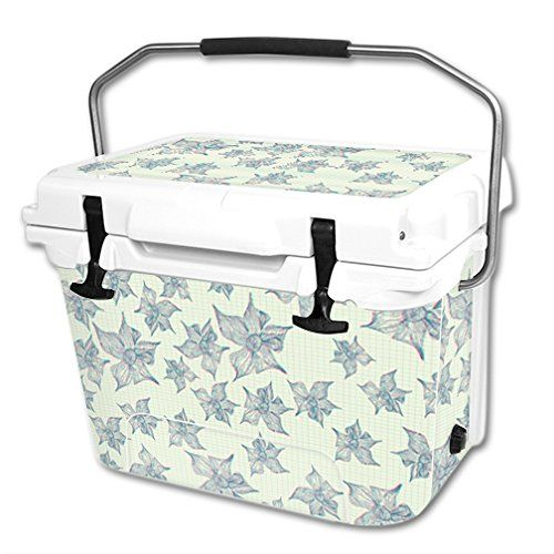 MightySkins Protective Vinyl Skin Decal Wrap for RTIC 20 qt Cooler cover sticker 3d Flowers *** You can find out more details at the link of the image.-It is an affiliate link to Amazon.