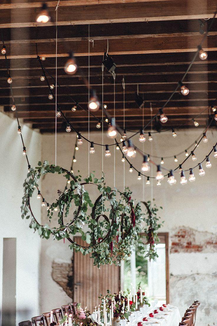 Lichterketten Deko für die Hochzeit
