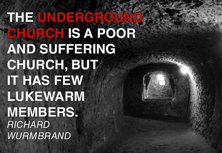 gods underground by richard wurmbrand essay Excerpt from in god's underground by richard wurmbrand by richard wurmbrand copyright 1968 the voice of the martyrs [wurmbrand relates this story from his life during world war two to comfort a fellow prisoner in the communist gulag they shared who has betrayed another prisoner out of fear and.