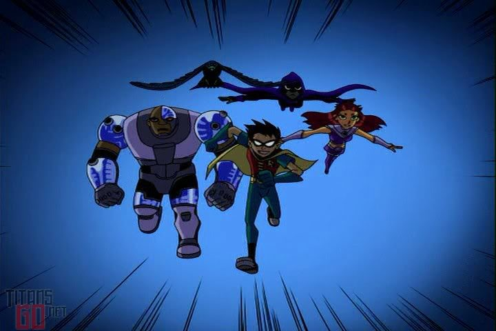 Teen Titans. WITH THEIR SUPER POWERS THEY UNITE. TEEN TITANS!