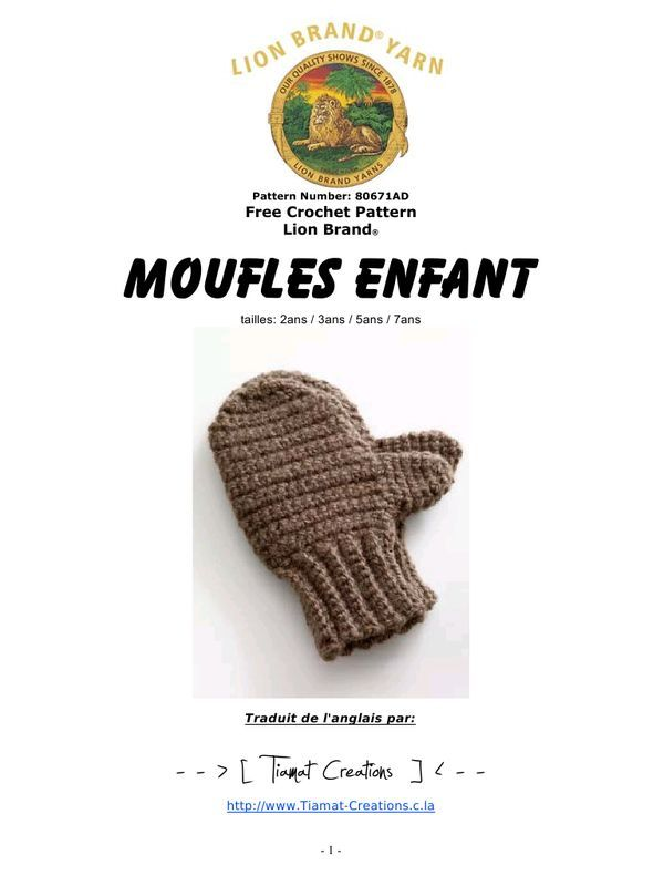 Des Mitaines Pour Toute La Famille 10 Modeles Pour Le Tricot Ou Le Crochet Moufles Enfant Moufle Mouffles Enfant