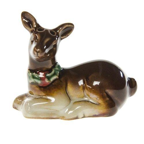 Mini Stoneware Salt Shaker - Deer | Woodland Christmas | Cracker Barrel Old Country Store - Cracker Barrel Old Country Store