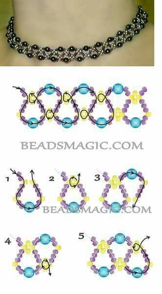 Free pattern for necklace Emprise