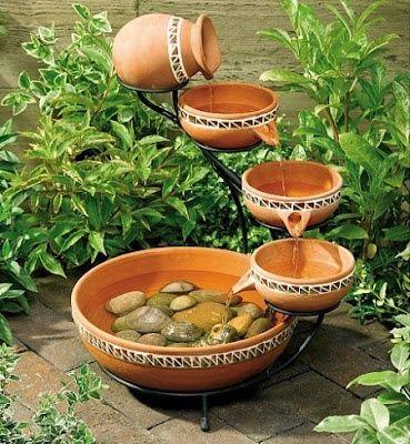 Fonte de água para jardim, salas e quintais.