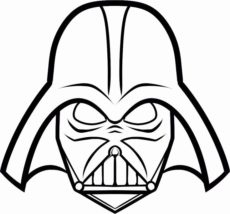 Darth Vader Coloring Page Fresh Easy Darth Vadar Coloring Pictures In 2020 Star Wars Drawings Darth Vader Mask Star Wars Art