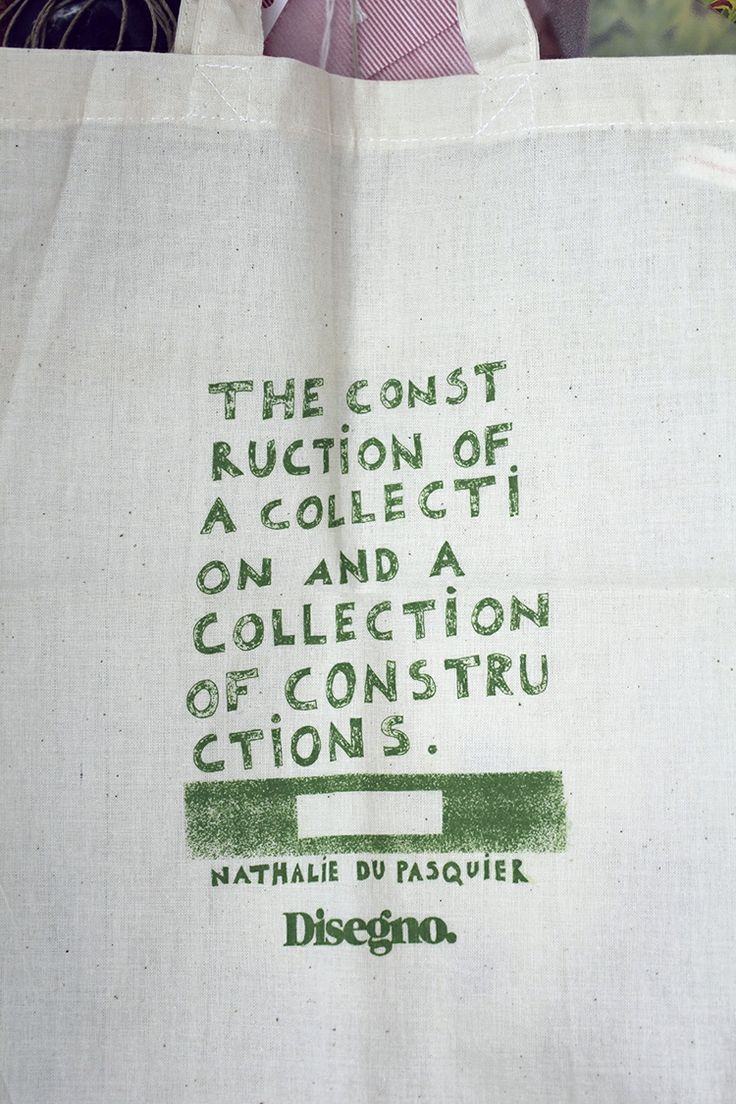 The words of Nathalie on the studio's wall - courtesy of Disegno.