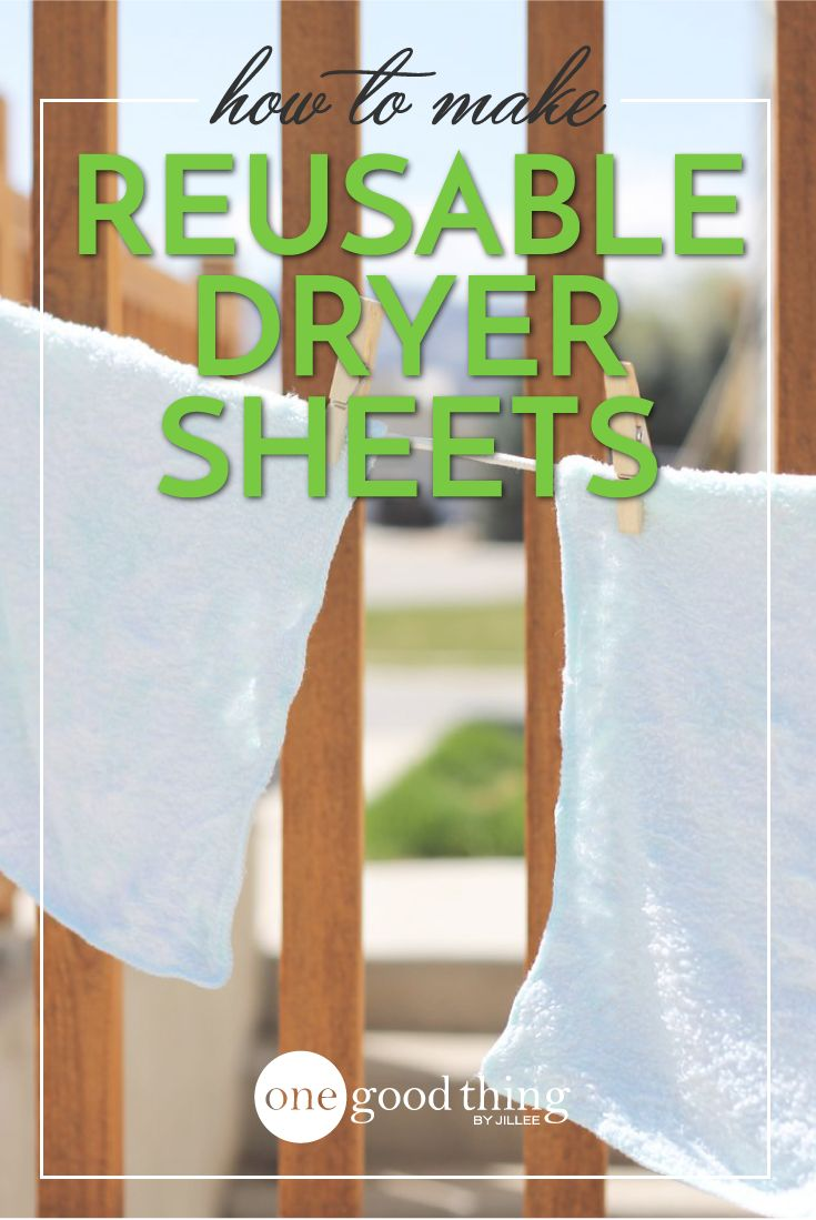 Reusable dryer sheets