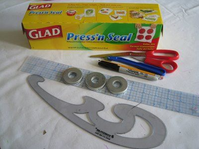 How to use Glad Press 'n Seal to make patterns from clothes
