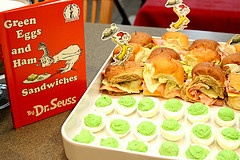 Green eggs and ham party food