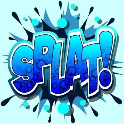 SPLAT! Comic Book Illustration by binkski   Pop art ... Comic Book Bubbles Pow