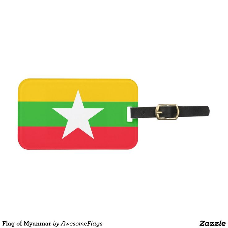 Flag of Myanmar Luggage Tag