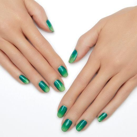 sound wave by essie - make some noise for this electric ombre nail art.