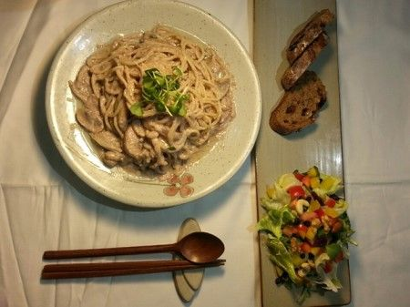 견과류 두유크림 스파게티·가든 샐러드 이미지 1