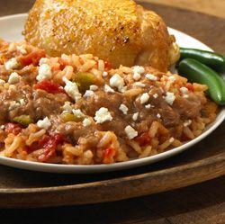 RO*TEL Arroz con Pollo y Frijoles: Chicken and rice get a makeover in this Mexican recipe.