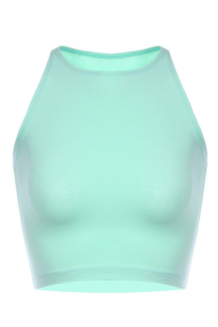 Mint Crop Top