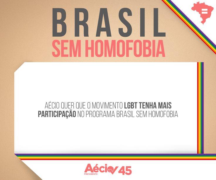 Brasil sem homofobia: Aécio quer que o movimento LGBT tenha mais participação no programa Brasil sem Homofobia.