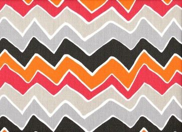 Queen Bedskirt 22 inch Drop Gathered Seesaw Chevron - eclectic - Bedskirts - Close to Custom Linens