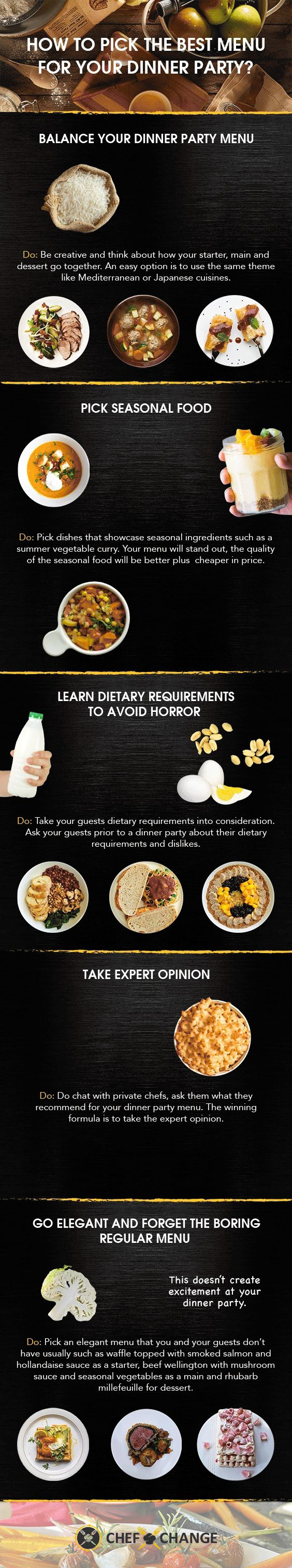 Elegant Dinner Party Menu Ideas Part - 44: How To Pick The Best Dinner Party Menu That You And Your Guest Will Love?  [Infographic]