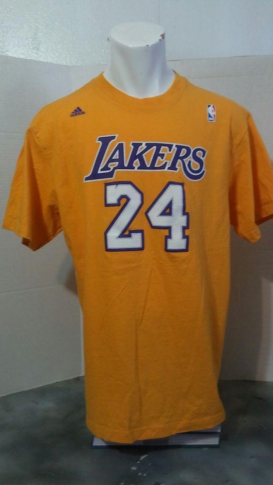 Adidas los angeles Lakers  yellow T shirt Kobe Bryant  | eBay
