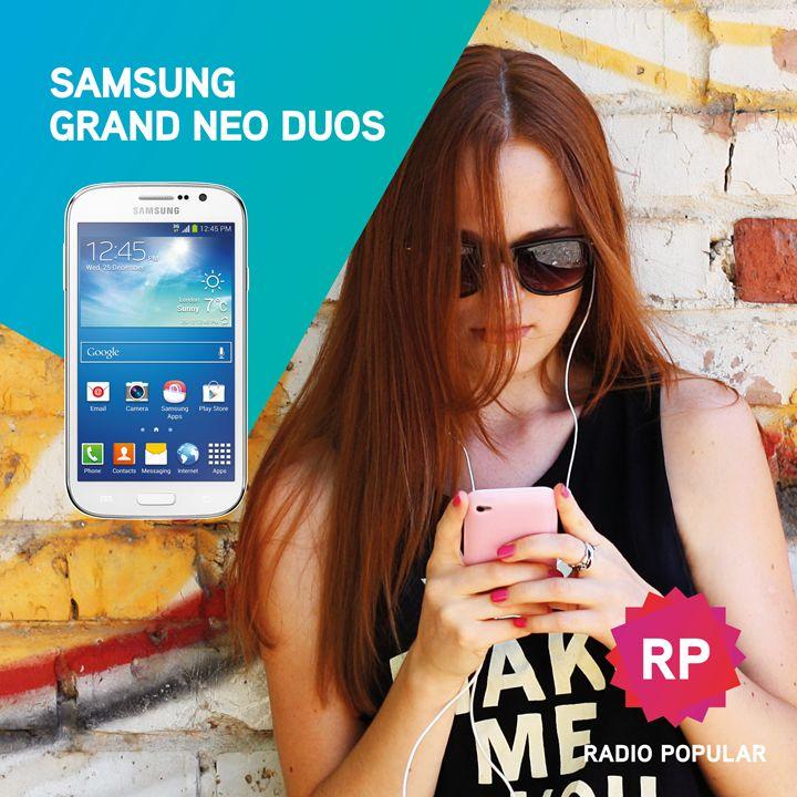 Quem é smart tem sempre dois cartões!  Telemóvel Samsung Grand NEO Duos White por apenas 179,99€.  Compra online:  http://www.radiopopular.pt/catalogo/detalhesproduto.php?idprod=38718#.VC0ybWddWSo  #radiopopular