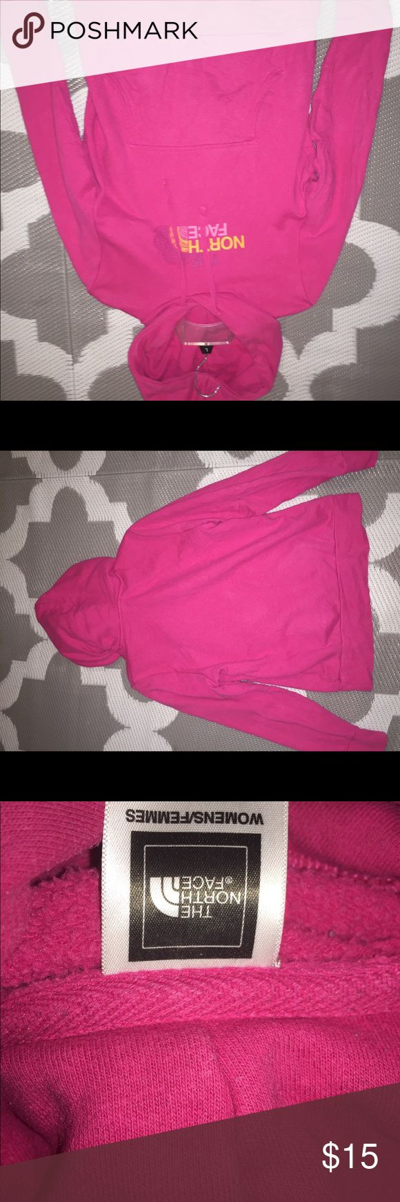 pink north face sweatshirt Perfect for you to run out the door with and oh so comfy! It's very soft and keeps you nice and toasty. Buy it now for cheap! North Face Jackets & Coats