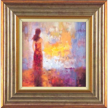 Diese gerahmte Wandkunst besticht mit einer dezenten Malerei und bringt eine romantische Note an Ihre Wände.   Product: Wandku...