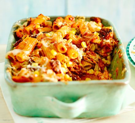 Tuna & sundried tomato pasta bake | BBC Good Food