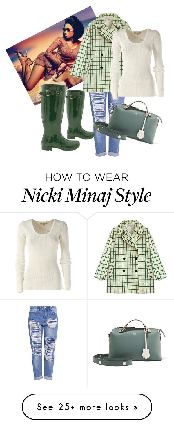 """Big Reign"" by uknowbetter on Polyvore featuring Nicki Minaj, Hunter, Michael Kors and Fendi"