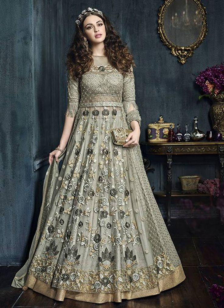 Buy Grey Net A Line Lehenga online from the wide collection of a-line-lehenga.  This Grey colored a-line-lehenga in Net fabric goes well with any occasion. Shop online Designer a-line-lehenga from cbazaar at the lowest price.
