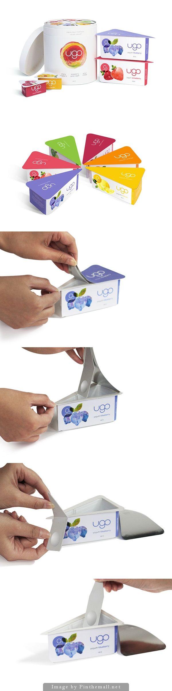 """Ugo"" yogurt packaging design by Chenchen Hu"