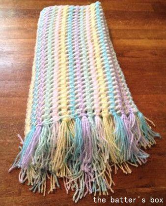 170 best children afghans images on pinterest crochet blankets crochet rainbow baby blanket with tassles free pattern translation the batters dt1010fo