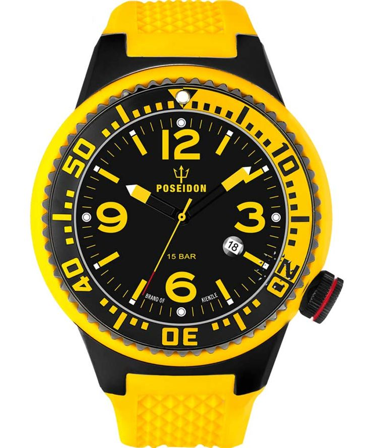 POSEIDON XXL Black Pro Yellow Silicone Strap Τιμή: 139€ http://www.oroloi.gr/product_info.php?products_id=34110