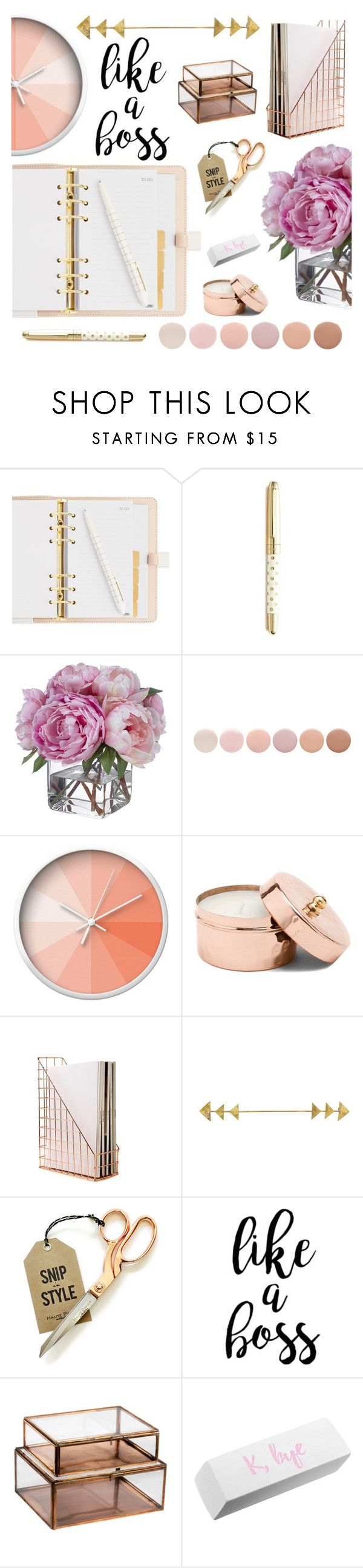 """""""like a boss >>>"""" by southernpearldesigns ❤ liked on Polyvore featuring interior, interiors, interior design, home, home decor, interior decorating, Kate Spade, Diane James, Deborah Lippmann and Dot & Bo"""