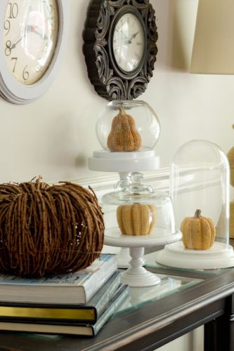 DIY Cloche Made From Dome Clock and Cheese Ball Tray