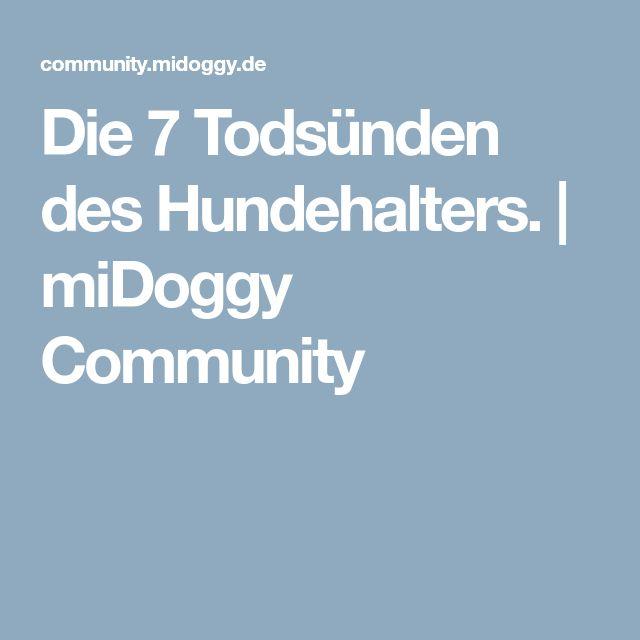 Die 7 Todsünden des Hundehalters. | miDoggy Community