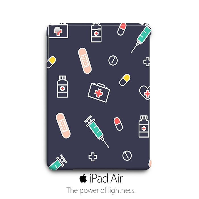 Mendical Nurse Pattern iPad Air Case Cover Wrap Around