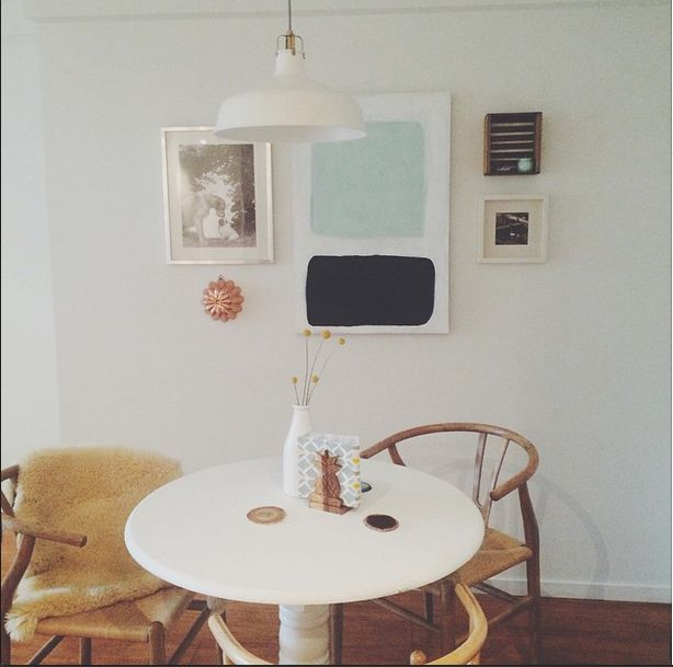 After moving into her new home in January, @fonteindara has begun to furnish and #decorate! Read about how she gives her apartment all the #homey feels without over-spending: http://aquarteryoung.com/2015/04/09/no-money-no-problems-creating-budget-friendly-diy-art/ #DIY #budgeting #homedecor