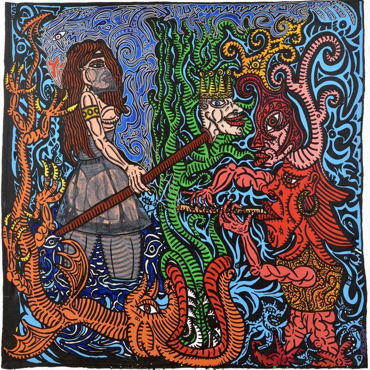 Robert Combas Fantaisie héroïque Heroic fantasy - Acrylique sur toileMore Pins Like This At FOSTERGINGER @ Pinterest