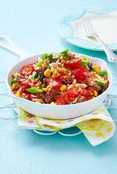 In 25 Minuten fertig und dank Beefsteak-Hackfleisch zusätzlich Kalorien sparen - perfekt!