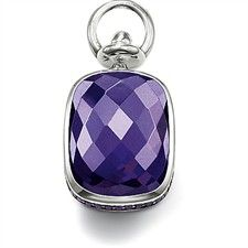 Faceted Purple Cz During Lge-PE409-051-13