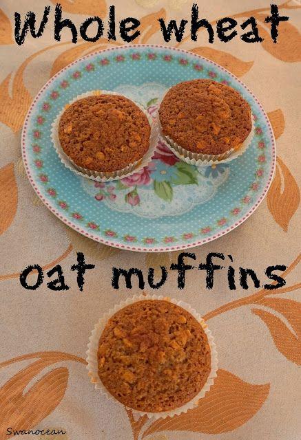 Whole wheat oat muffins-Muffins ολικής άλεσης με βρώμη