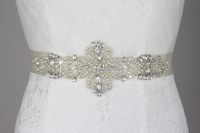 Rhinestone Crystals Wedding Belt, Bridal Sash $64.99