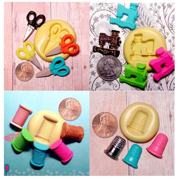 Sewing mold Set flexible silicone  Sewing by CrazyLadiesCreations, $15.25