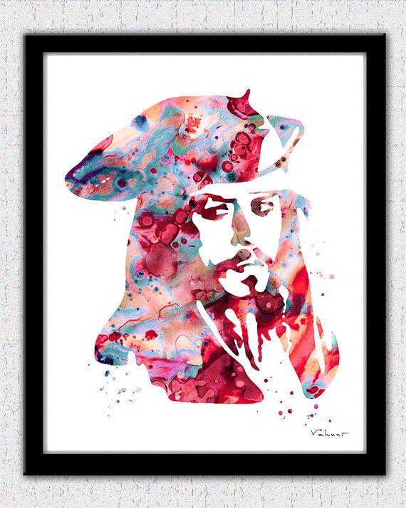 Jack Sparrow art print Jack Sparrow painting by FluidDiamondArt